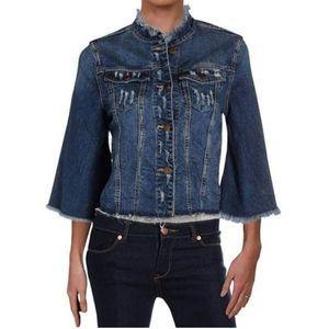 RACHEL Rachel Roy distressed denim jacket size 1X